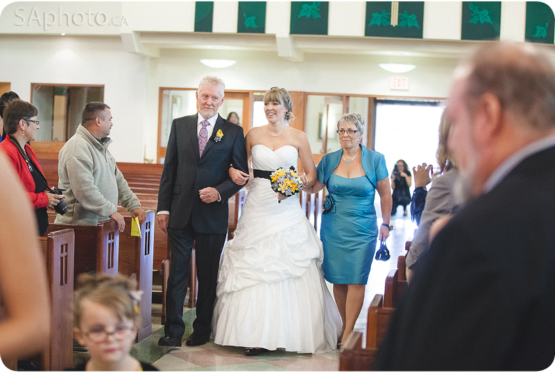 050-Inside-Our-Lady-of-Lourdes-Church-Wedding-bride-walking-down-aile